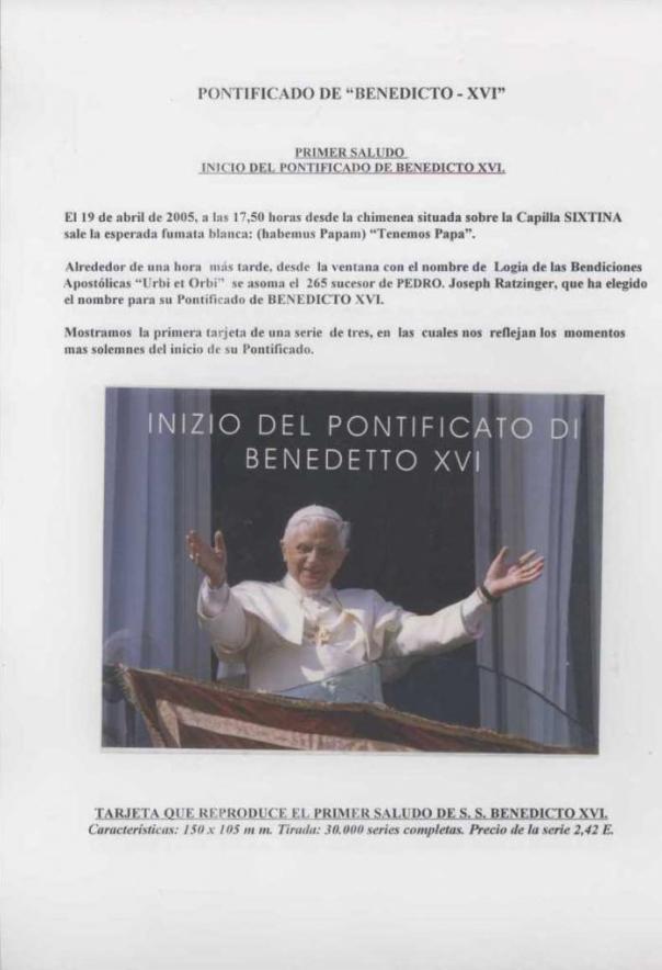 003 - PONTIFICADO DE BENEDICTO XVI BIS