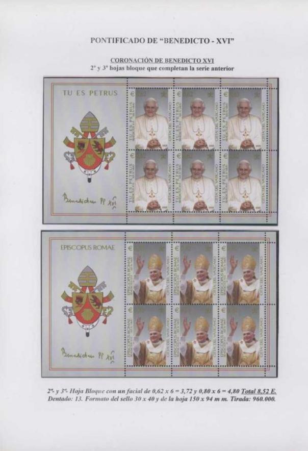 004 - CORONACIÓN DE BENEDICTO XVI