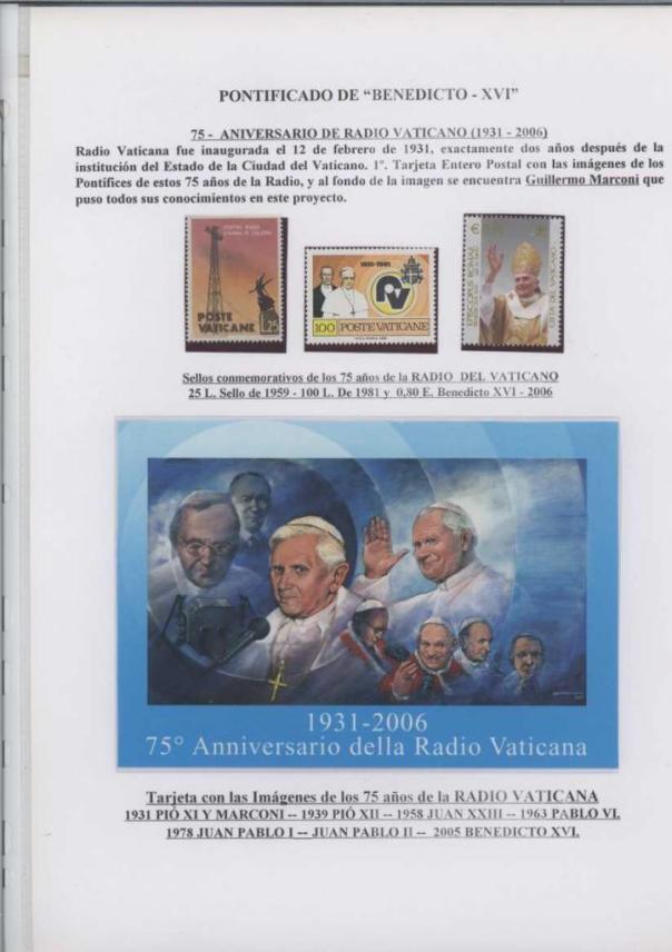 016 - ANIVERSARIO RADIO VATICANA BIS