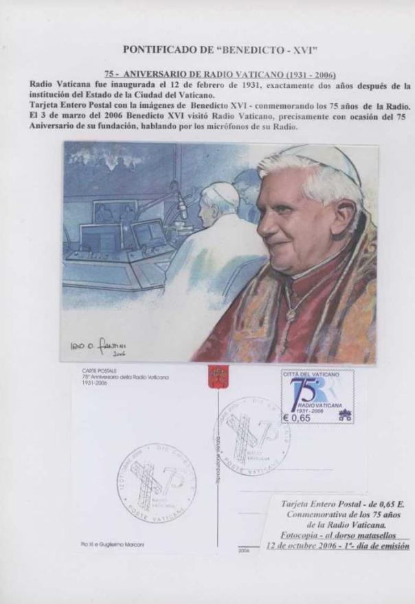 016 - ANIVERSARIO RADIO VATICANA