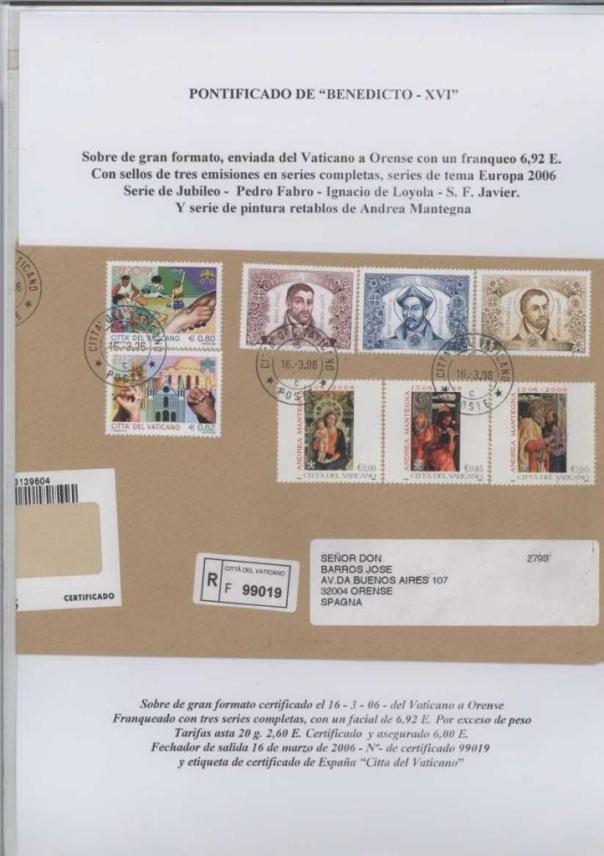 020 - JUBILEO BEATO PEDRO FABRO-IGNACIO DE LOYOLA FECHA EMISIÓN 16 MARZO 2006 bis