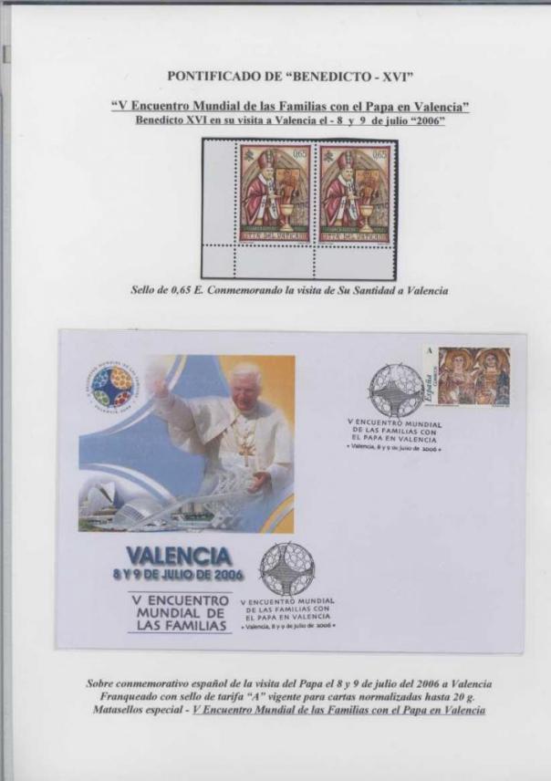 V ENCUENTRO MUNDIAL DE LAS FAMILIAS EN VALENCIA 8-9 JULIO 2006 BIS
