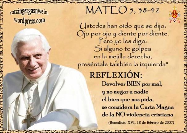 OJO POR OJO DIENTE POR DIENTE BENEDICTO XVI