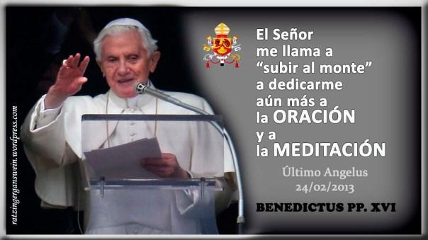 ULTIMO ANGELUS BENEDICTO XVI