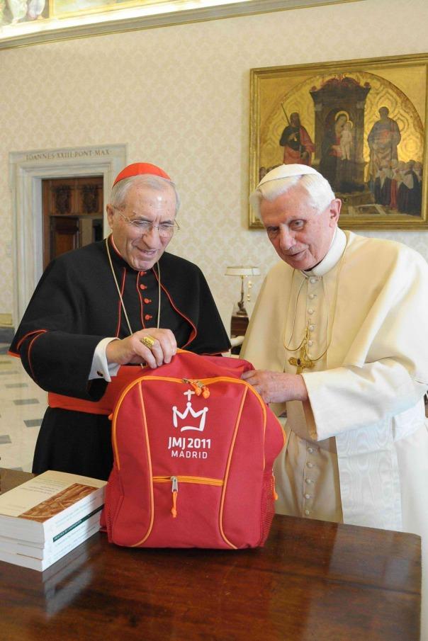 Foto Santo Padre con el cardenal de Madrid, D. Antonio Maria Rouco_2