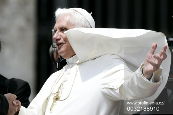 Pope Benedict XVI during his weekly general audience in St.Peter's square at the Vatican.
