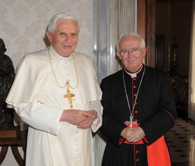 Cañizares, con Benedicto XVI