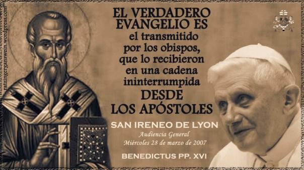 SAN IRENEO AUDIENCIA BENEDICTO XVI