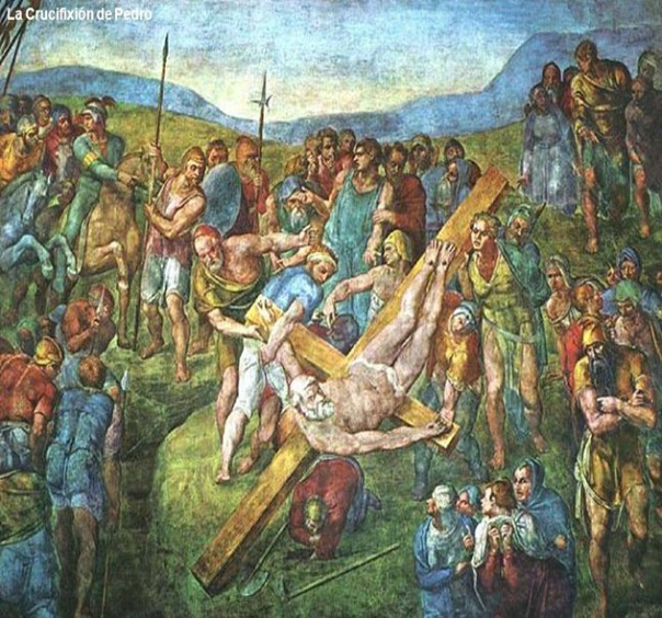 Crucifixión de San Pedro. Miguel Ángelus, Capilla Paulina del Palacio Apostólico Vaticano.