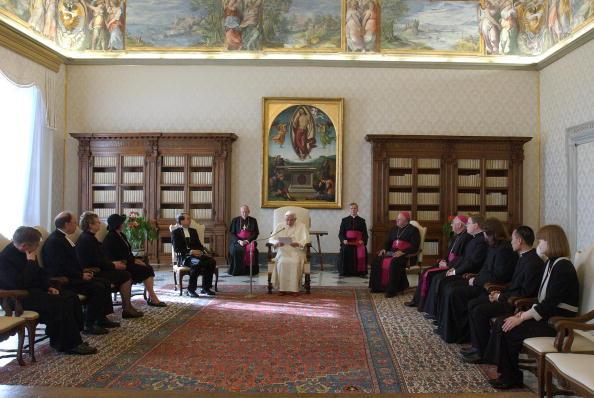 Pope Benedict XVI meets a Finnish ecomen
