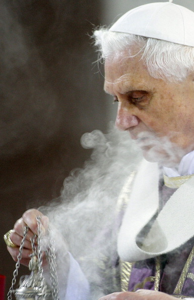 Pope Benedict XVI Celebrates Ash Wednesday At The Santa Sabina Basilica in Rome, Italy on February 06th, 2008.