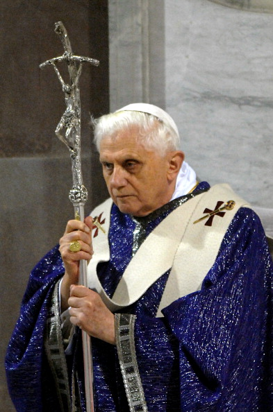 Pope Benedict XVI celebrates the Ash Wednesday at the Basilica of St Sabina in Rome, Italy on February 21st, 2007