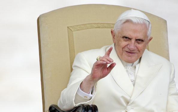 Pope Benedict XVI gestures during his op