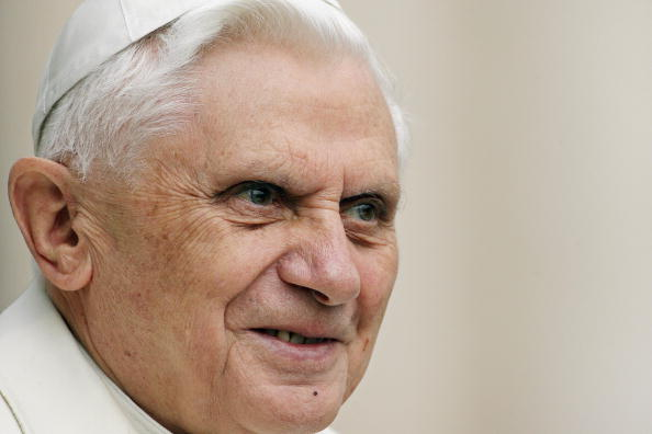 Pope Benedict XVI looks on during his op