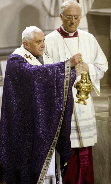 Pope Benedict XVI spreads incense fumes