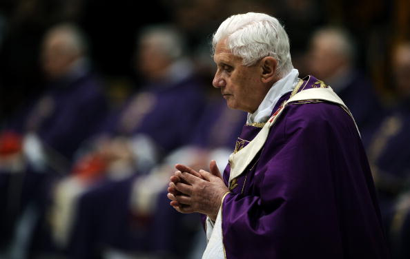 Pope Benedict XVI celebrates the mass in