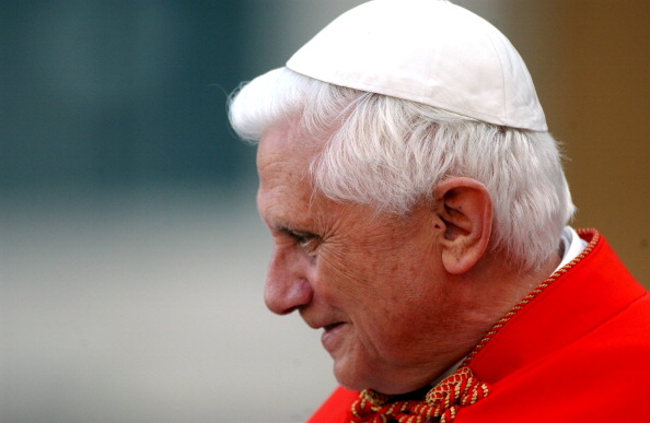 Pope Benedict XVI met thousands of young people in St Peter's square in Rome, Italy on April 06, 2006.