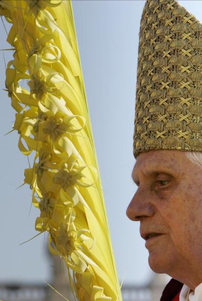 Pope Benedict XVI attends the Palm Sunda