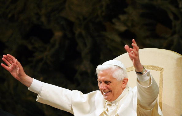 Pope Benedict XVI meets students from th