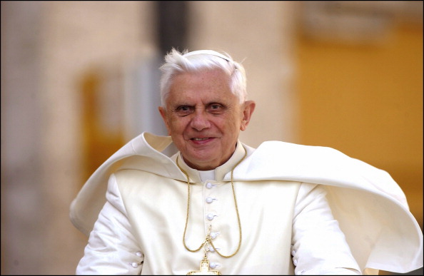 Pope Benedict XVI celebrates first anniversary of his election as pontiff. in Rome, Vatican City on April 19, 2006.